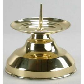 Brass candlestick - 9 cm