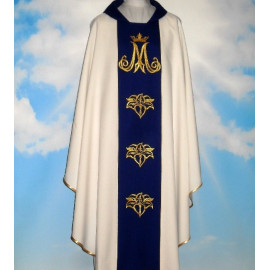 Chasuble, St. Mary's embroidered belt - ecru color (4)