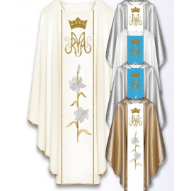 Chasuble, St. Mary's embroidered belt - mix color (5)