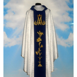 Chasuble, St. Mary's embroidered belt - silver color (7)