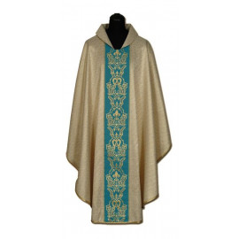 Chasuble, St. Mary's - gold + gold ornament (9)