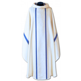 Chasuble, St. Mary's - gold + blue belts (11)