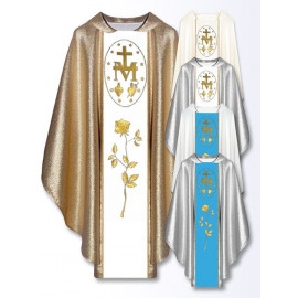 Chasuble, St. Mary's embroidered belt - mix color (14)