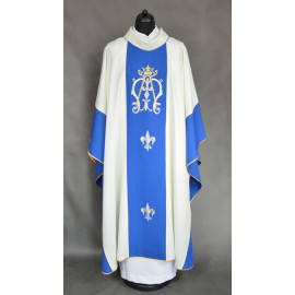 Marian chasuble embroidered belt - ecru (16)