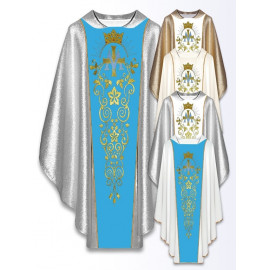 Marian chasuble embroidered belt - ecru (17)