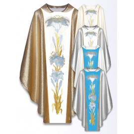 Marian chasuble embroidered belt - ecru (18)