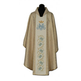 Marian chasuble embroidered belt - gold + gold ornament (20)