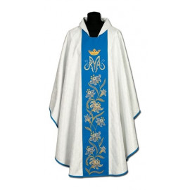 Marian chasuble embroidered belt - damask (22)