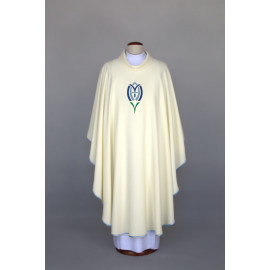 Marian chasuble embroidered - ecru (24)