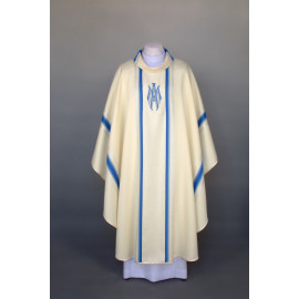 Marian chasuble embroidered - ecru (25)