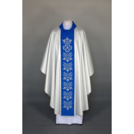 Marian chasuble embroidered - silver (26)