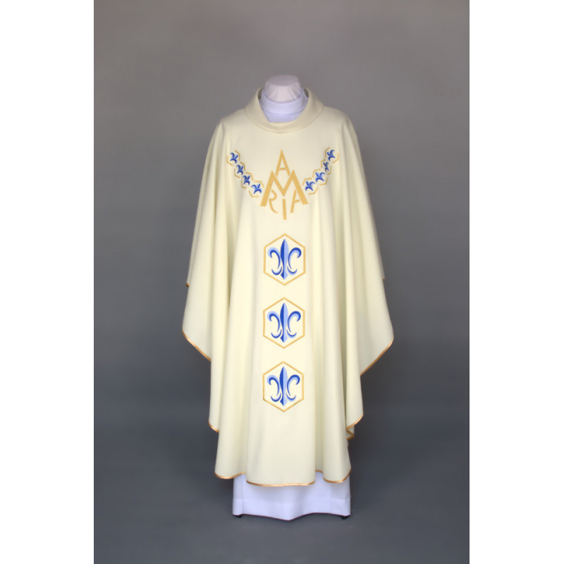 Marian chasuble embroidered - ecru (27)