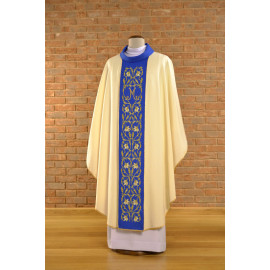 Marian chasuble embroidered - ecru (28)