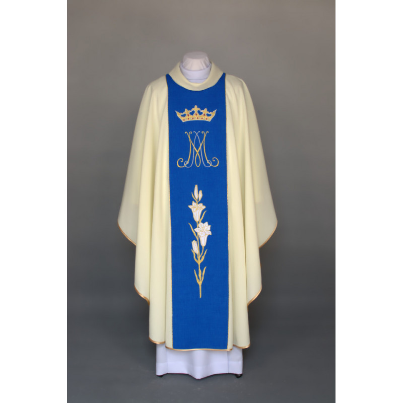 Marian chasuble embroidered - ecru (29)