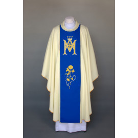 Marian chasuble embroidered - ecru (30)