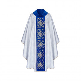 Marian chasuble embroidered - jacquard fabric (35)