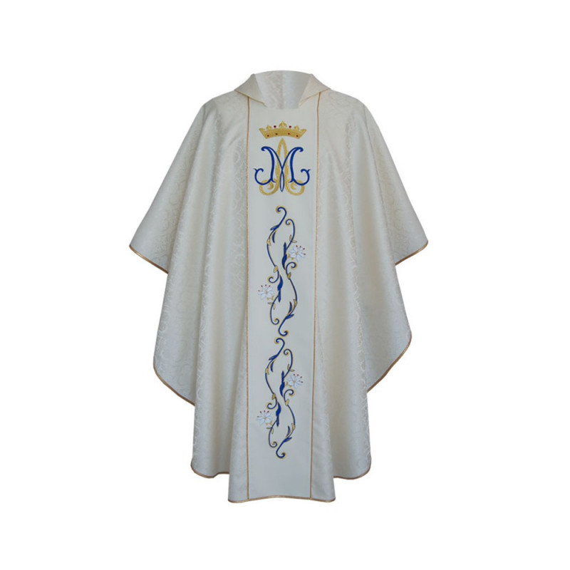 Marian chasuble embroidered - jacquard fabric (38)