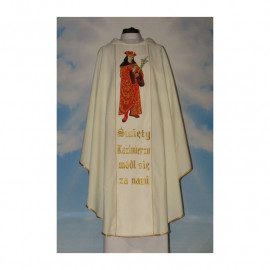 Chasuble with the image of St. Kazimierz