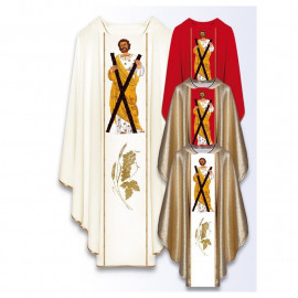 Chasuble with the image of St. Andrew the Apostle