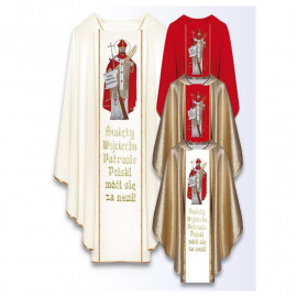 Chasuble with the image of St. Wojciech
