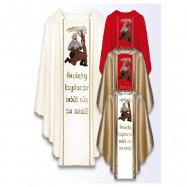 Chasuble with the image of St. Isidore