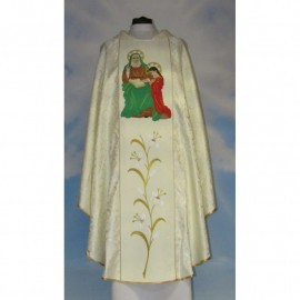 Embroidered chasuble - Saint Anna - rosette material