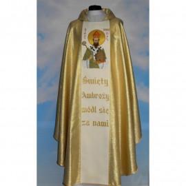 Embroidered chasuble - Saint Ambrose