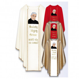 Chasuble with the image of St. Alojzy Orione