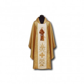 Embroidered chasuble St. Francis (2)