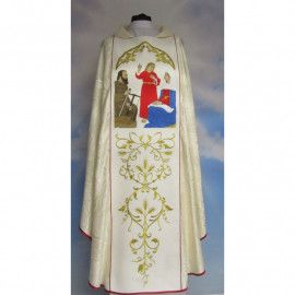 Embroidered chasuble - Annunciation - Holy Family