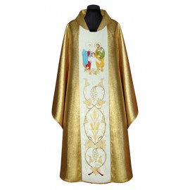 Embroidered chasuble Holy Family