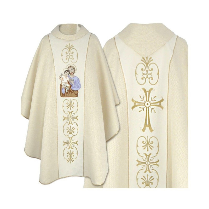 Embroidered chasuble with an image of St. Joseph (4)