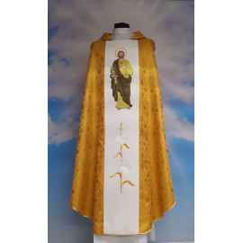 Embroidered chasuble with St. Joseph - rosette (8)