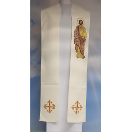Embroidered stole with the image of St. Joseph (4)