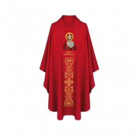 Embroidered Gothic chasuble Saint Adalbert