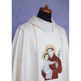 Chasuble with the image of Saint Anthony of Padua.