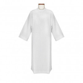 Clergy alb - plain fabric, stand-up collar (10)