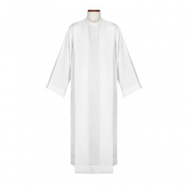 Clergy alb with pleats,stand-up collar (12)