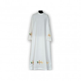 Clergy alb embroidered, stand-up collar (14)