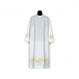 Clergy alb embroidered, stand-up collar (15)