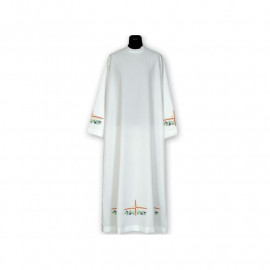 Clergy alb embroidered, stand-up collar (16)