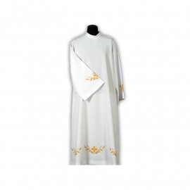 Clergy alb embroidered, stand-up collar (18)