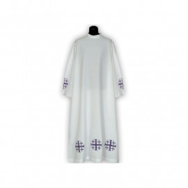 Clergy alb embroidered, stand-up collar (19)
