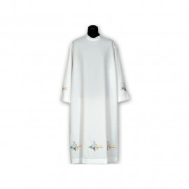 Clergy alb embroidered, stand-up collar (20)