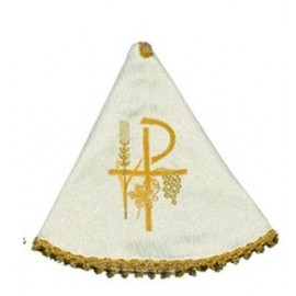 Ciborium Veil - ecru color, embroidered