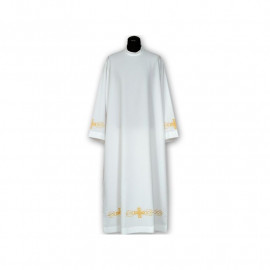 Clergy alb embroidered, stand-up collar (21)