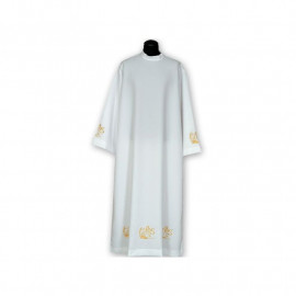 Clergy alb embroidered, stand-up collar (22)
