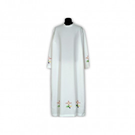 Clergy alb embroidered, stand-up collar (23)