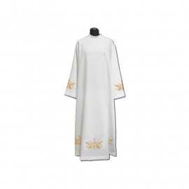 Clergy alb embroidered, stand-up collar (25)