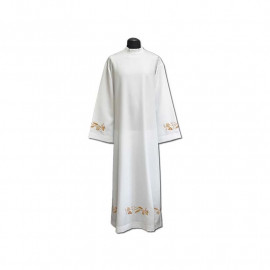 Clergy alb embroidered, stand-up collar (26)